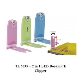 TL 5033 -- 2 in 1 LED Bookmark Clipper