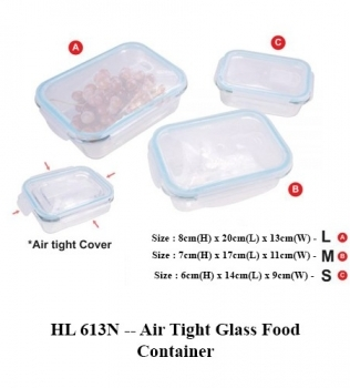HL 613N — Air Tight Glass Food Container